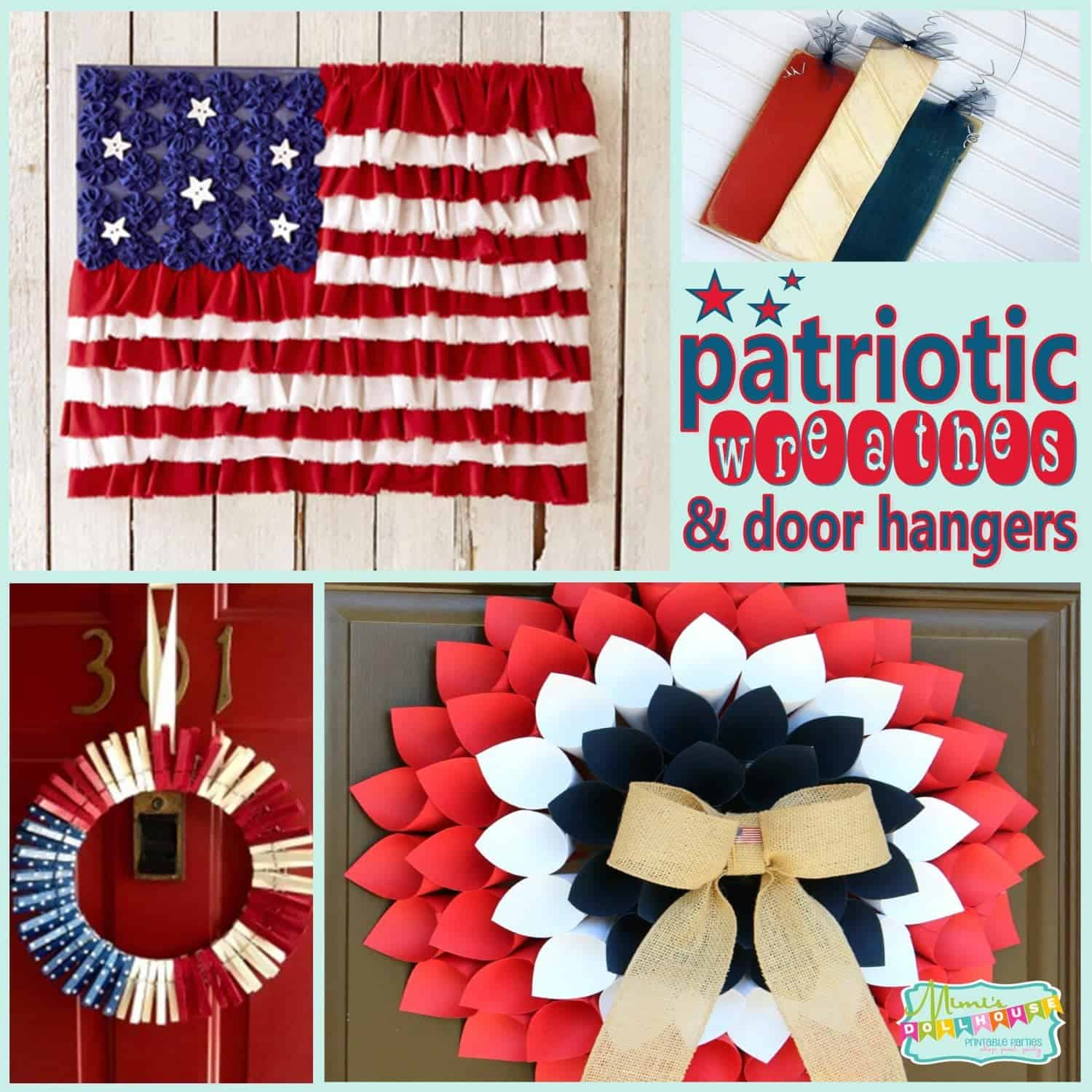 Fourth of July: Patriotic Wreathes and Door Hangers