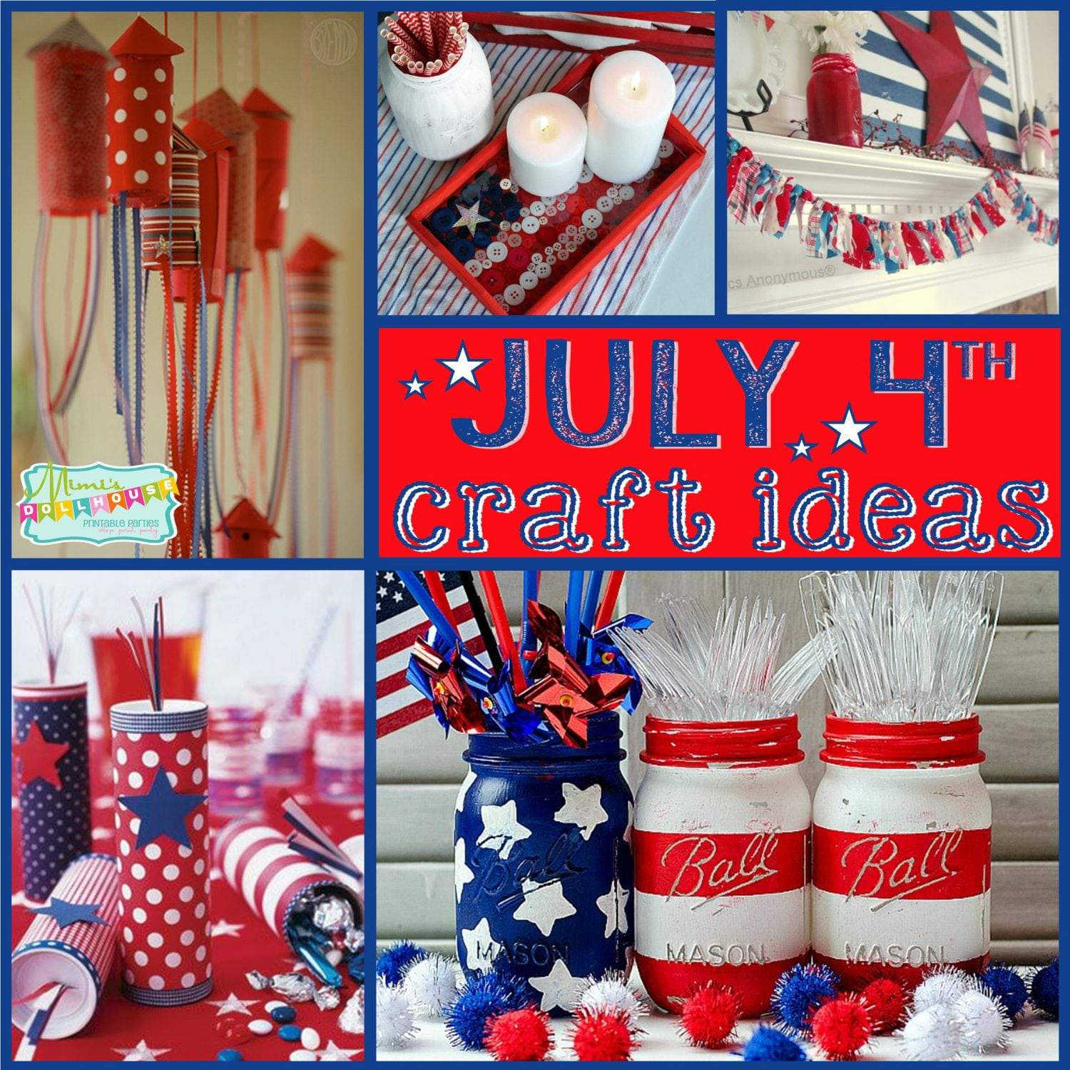 Fourth of july craft ideas patriotic mantles and