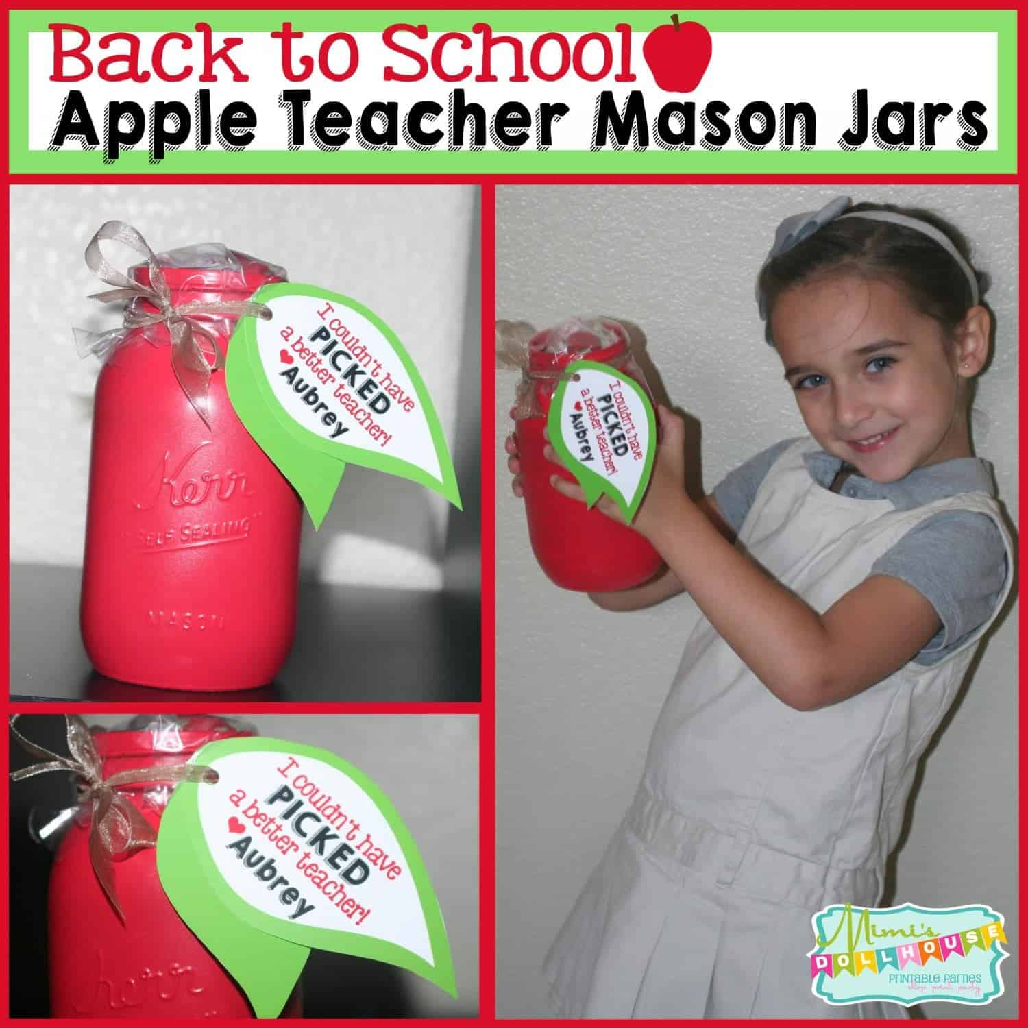 Back to School: Apple Mason Jar Teacher Gift