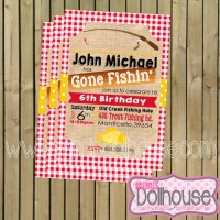 Gone Fishing Invite Displauy