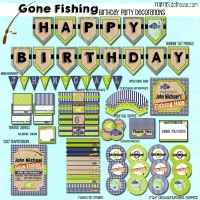 Gone fishing display file-blue