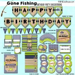 Gone fishing display file-blue