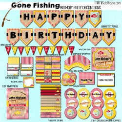 Gone fishing display file-red