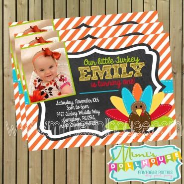 Little Turkey Invitation Display