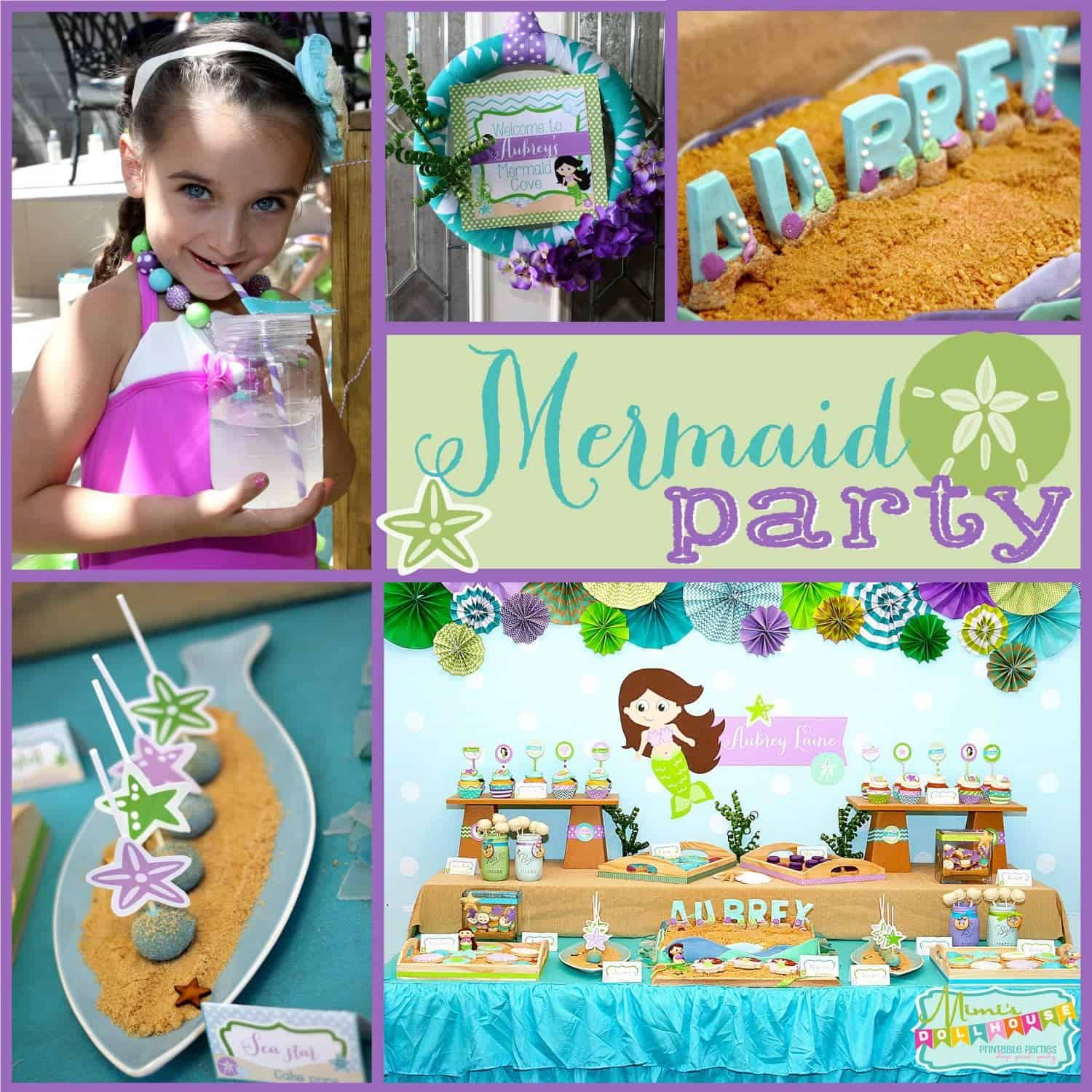 Mermaid Party: Aubrey's Chic Little Mermaid Party