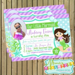 Mermaid Invitation Displauy