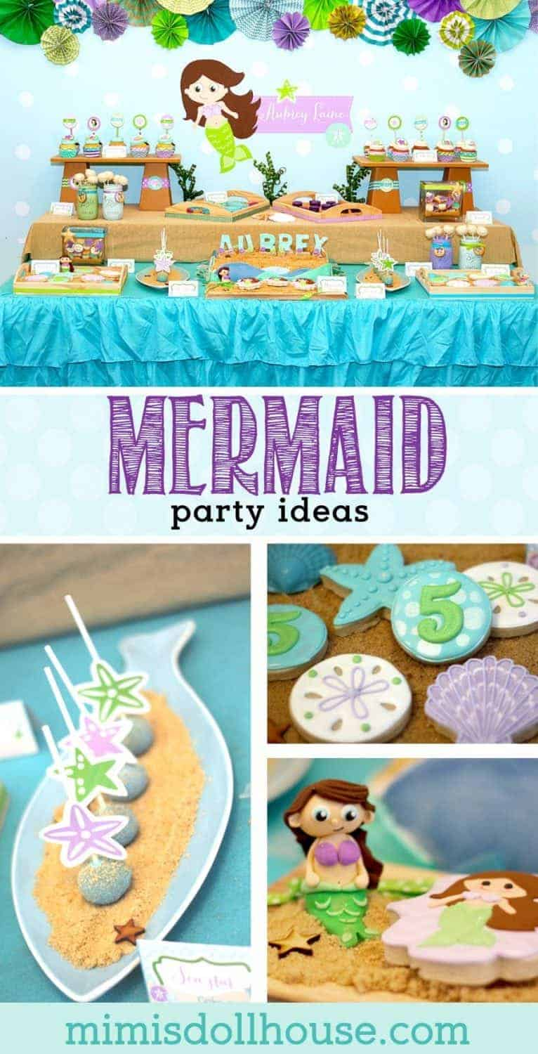 Mermaid Party: Aubrey's Little Mermaid Party.  Looking for some fin-tastic Mermaid Party Ideas for your next party?  This mermaid party is full of fun under the sea!!