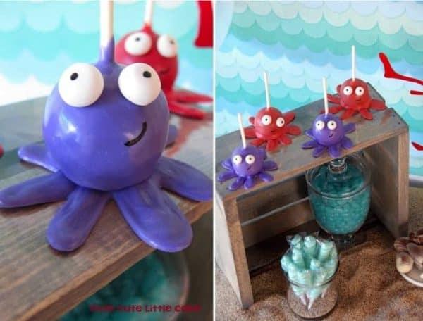 Under the sea TCLC - dessert table cake pops