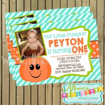 pumpkin blue invite display pic