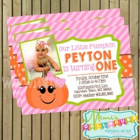 pumpkin pink invite display pic