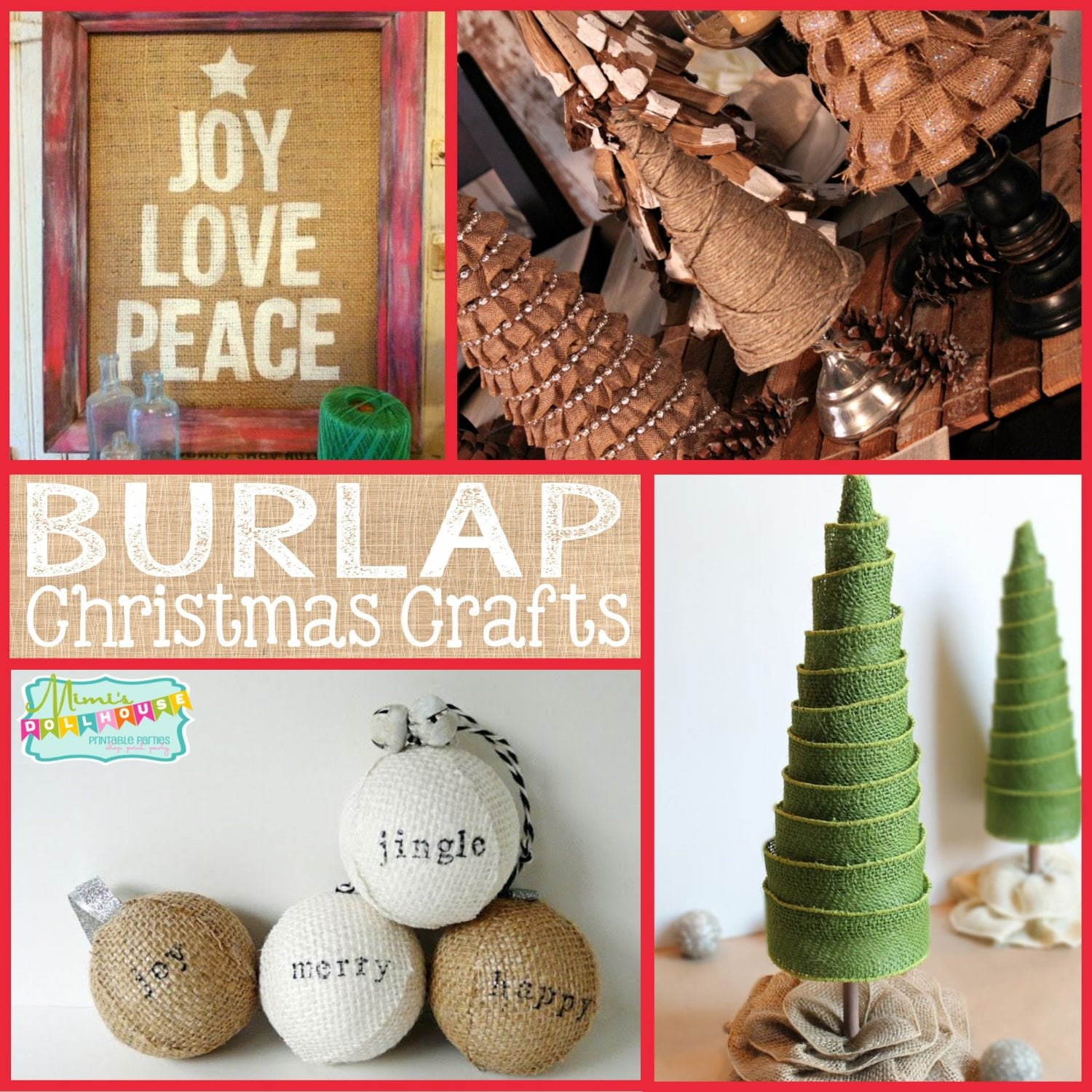 Christmas: Burlap Christmas Crafts | Mimi's Dollhouse