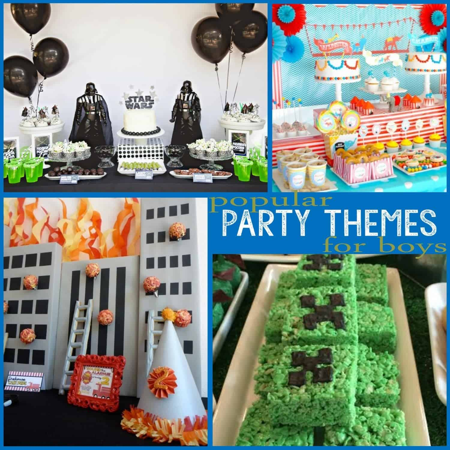 Trends Popular Party Themes for Boys Part 1 Mimis Dollhouse