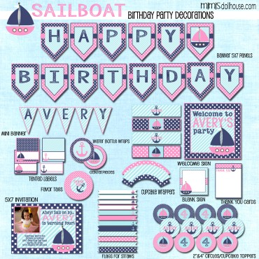 Sailboat display file-pink