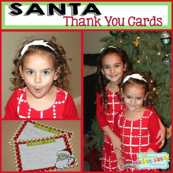 Santa Thank You Cards Pic