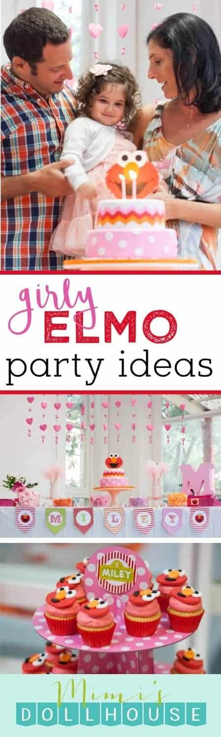 Elmo Party: Miley's Pretty Pink Elmo Party.  Love Elmo?  Love Pink?  Today I am sharing a lovely Elmo Party styled by Sara Jade Weddings and Events. Be sure to check out all of our Sesame Street Party Ideas.