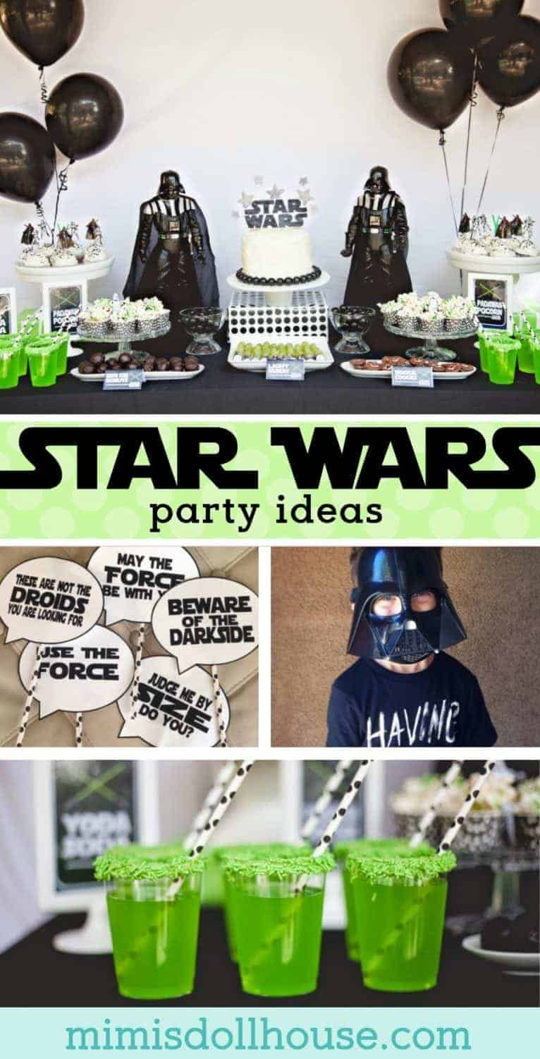 Star Wars Party: Jedi Jaxon's Star Wars 4th Birthday Party.  This Star Wars party is out of this world.  Be sure to check out all of our Star Wars party ideas and inspiration.