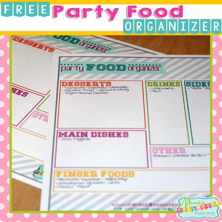 Party Planning: FREE Party Menu Organizer