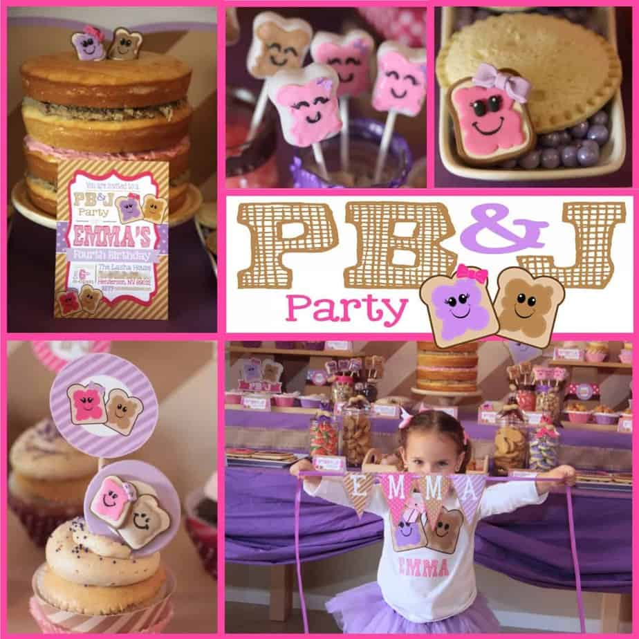 PB&J Party: My little peanut Emma turns four!!