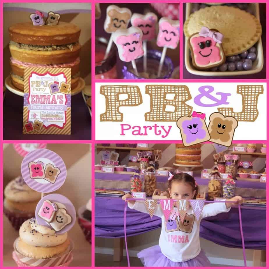 PB&J Party: My little peanut Emma turns four!!