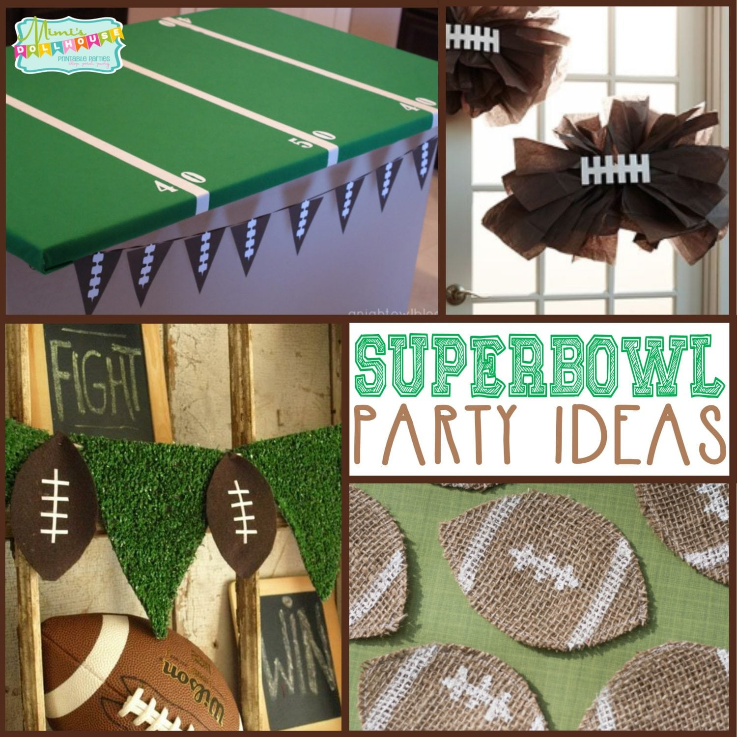 Super Bowl Party: DIY Football Party Decor