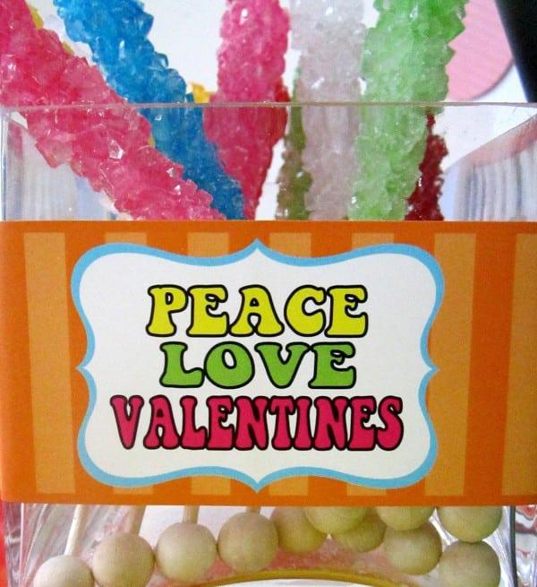 peace, love, valentine