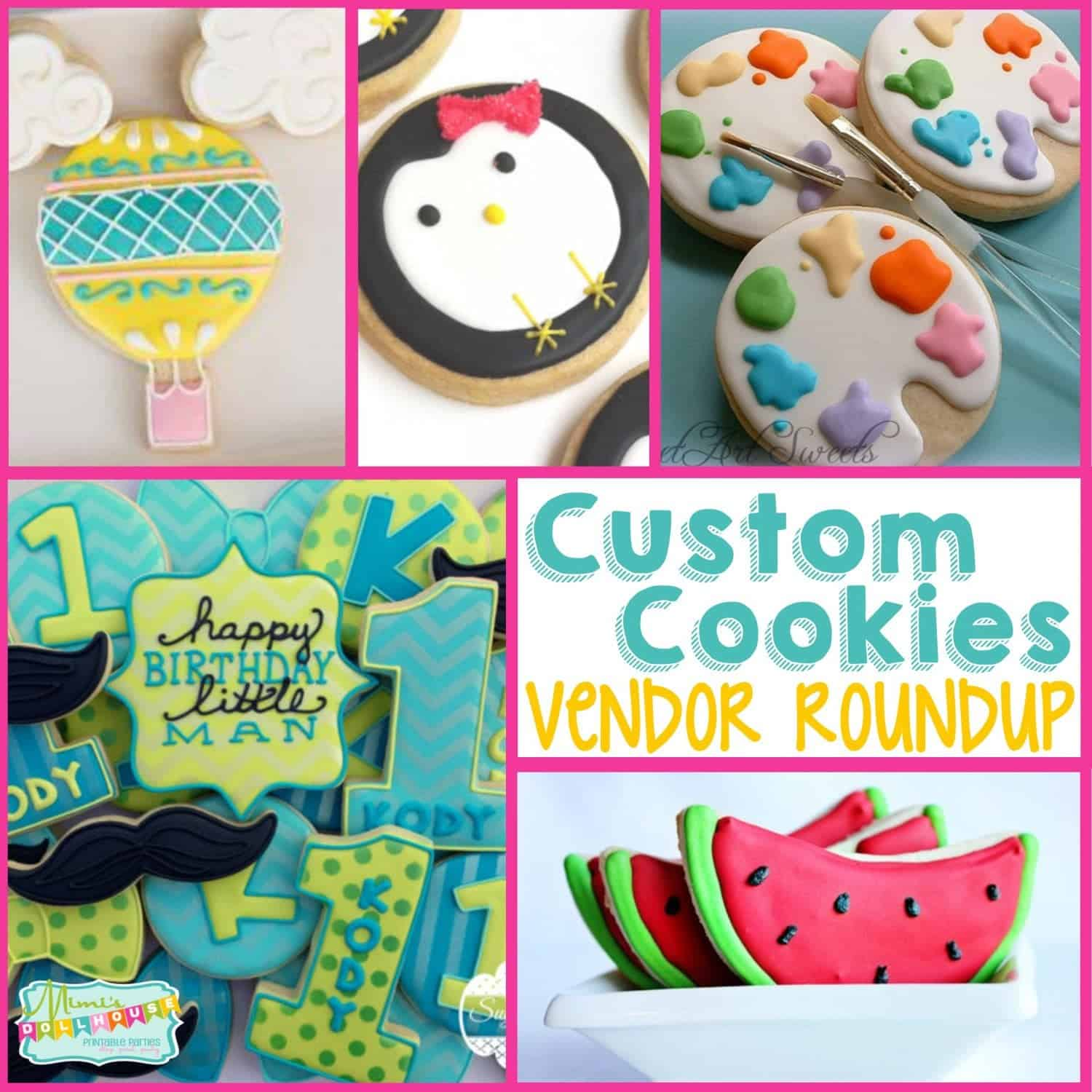 Vendor Roundup: Custom Cookies for your Party