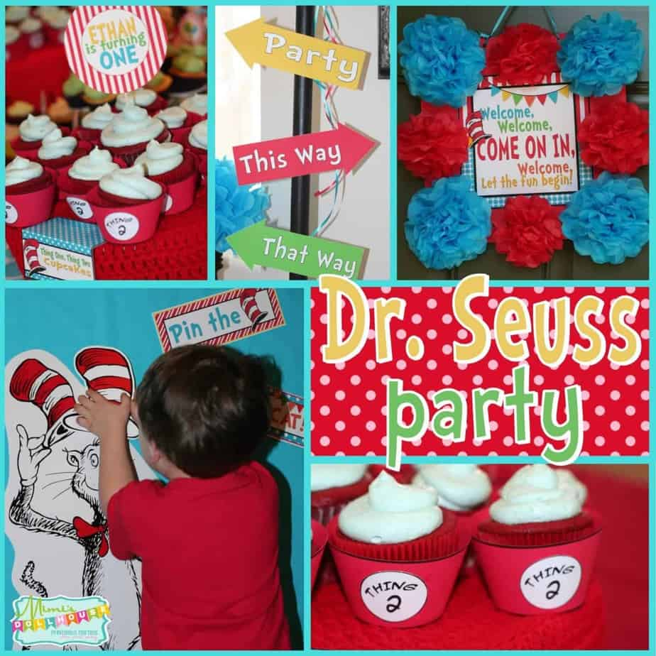 Dr. Seuss Party: Thing 1 and Thing 2, what a big to-do!