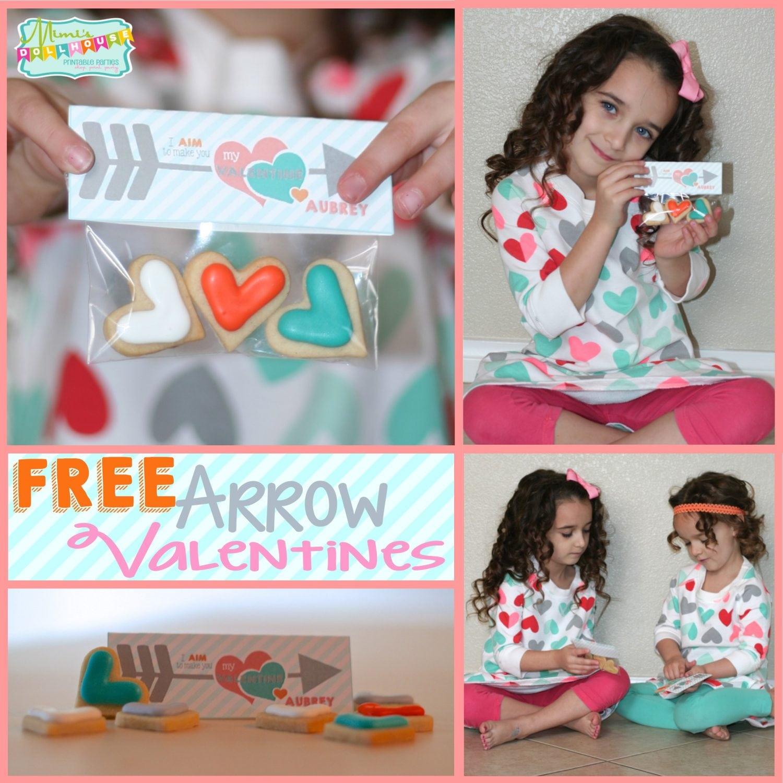 Valentine's Day: FREE Printable Arrow Valentines