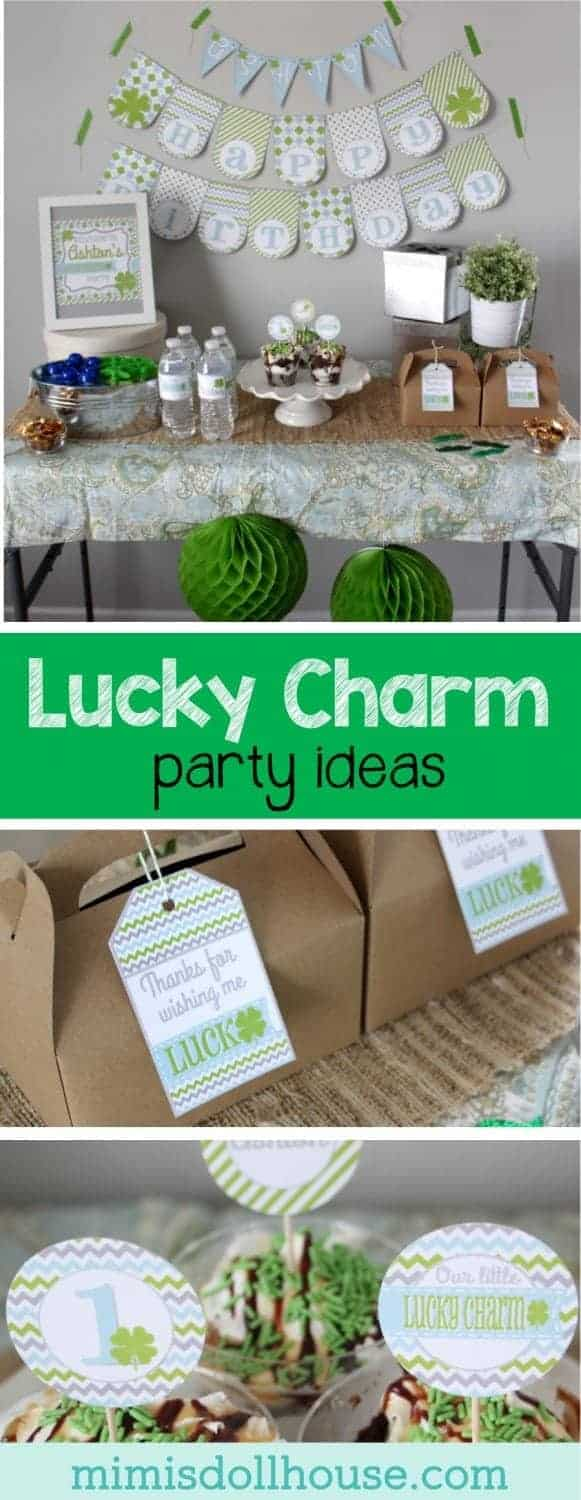 St. Patrick's Day Party: Lucky Charm Party. Feeling Lucky? Today I am sharing a sweet Lucky Charm party...be sure and check out all of our St. Patrick's Day ideas and inspiration.