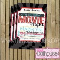 Movie night Birthday Invite Pic