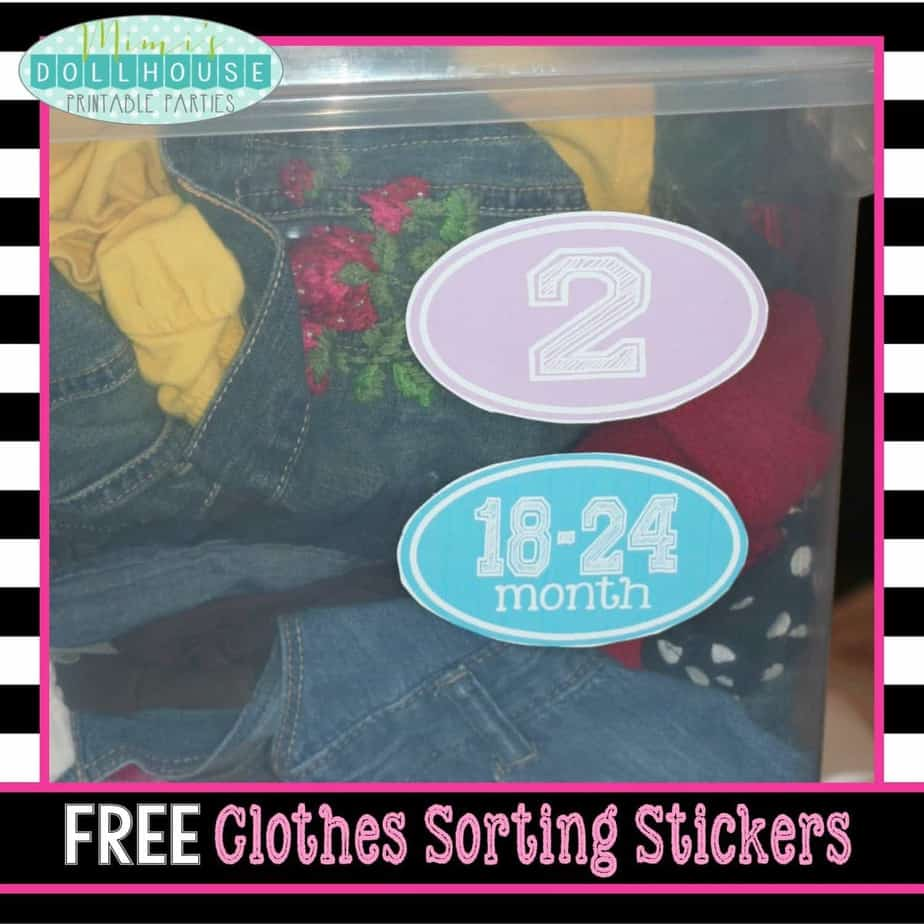 Organized Life: Free Clothes Stickers