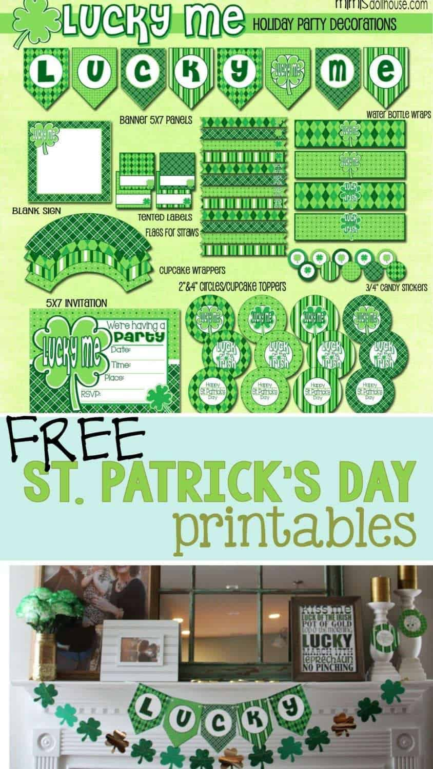 St. Patrick's Day: FREE St. Paddy's Day Printables. Did you know we have FREE St. Paddy's Day Printables?  Decorate your home for St. Patrick's Day or throw a St. Patrick's Day Party!!