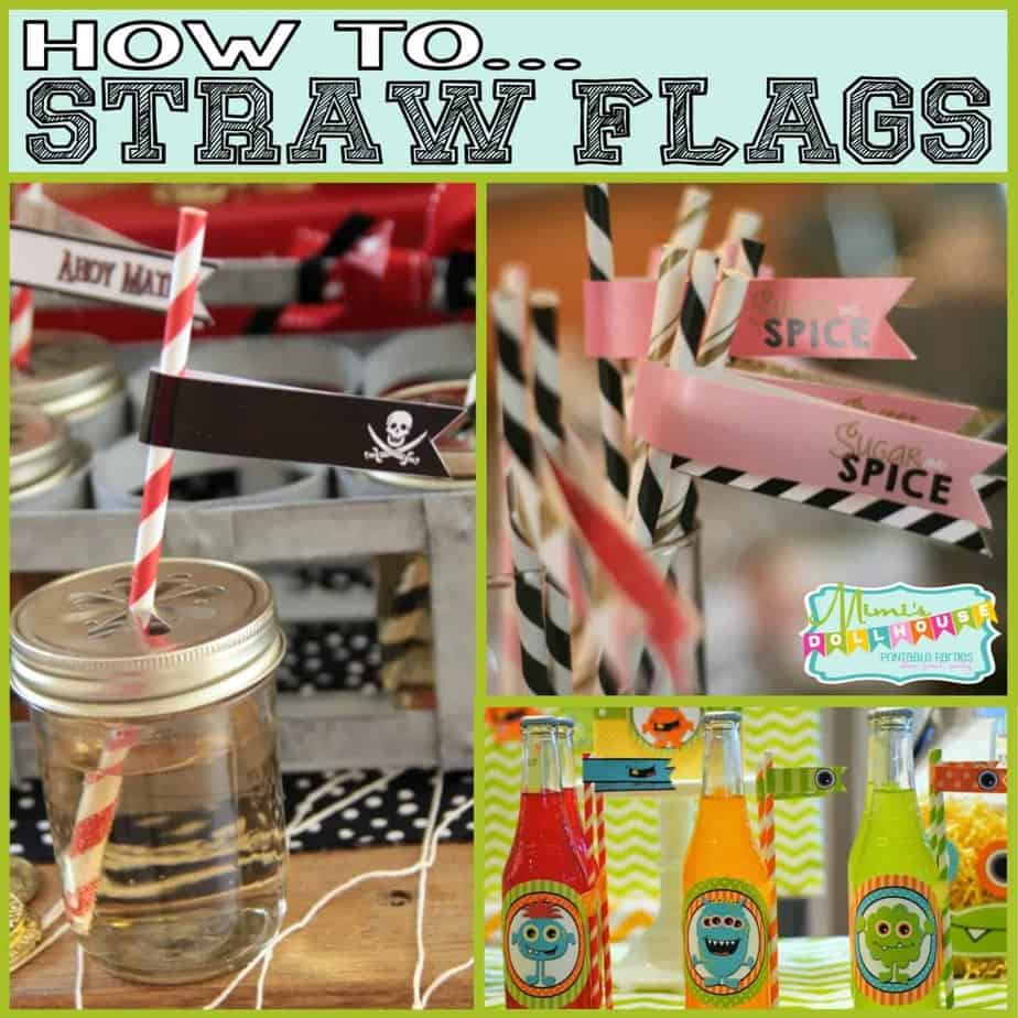 How To: Straw Flags