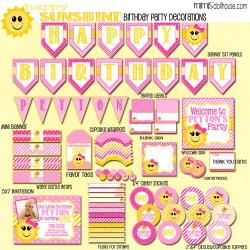 happy sunshine display file-pinkhotpink