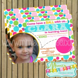invitation display bouncy ball girl