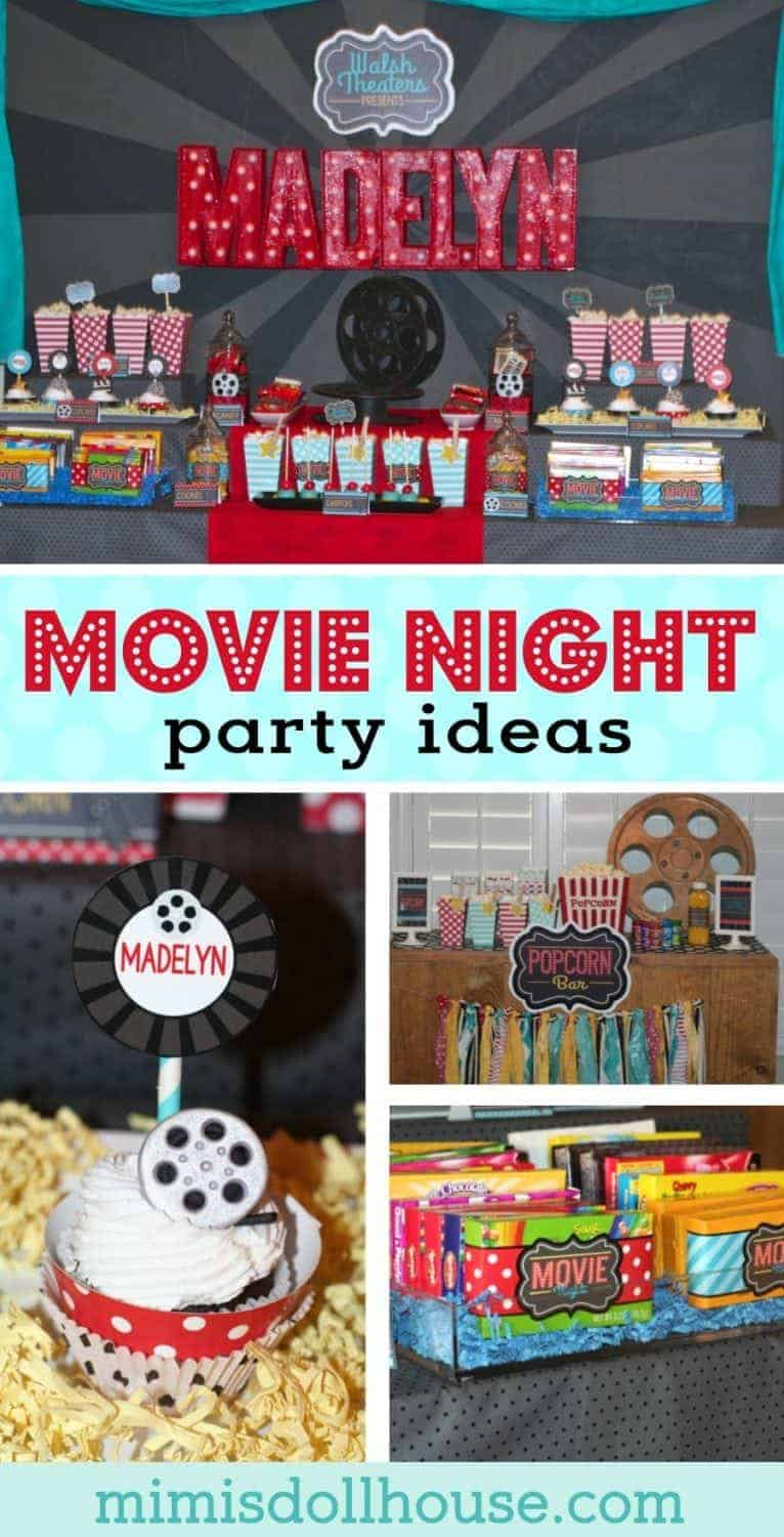 Looking for some Movie Night party ideas or a unique baby shower?  Check out this amazing movie night baby shower full of fun details and ideas!