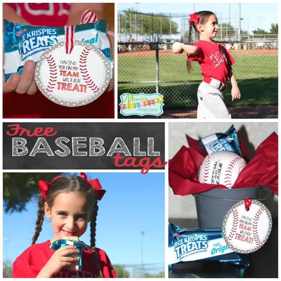 Baseball Party: Rice Krispies Treats®, Cal Ripken Jr. and some FREE printable tags