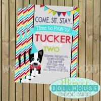 Dapper Puppy Invite Display no Photo