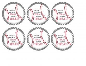 Favor Tags-Baseball Treat