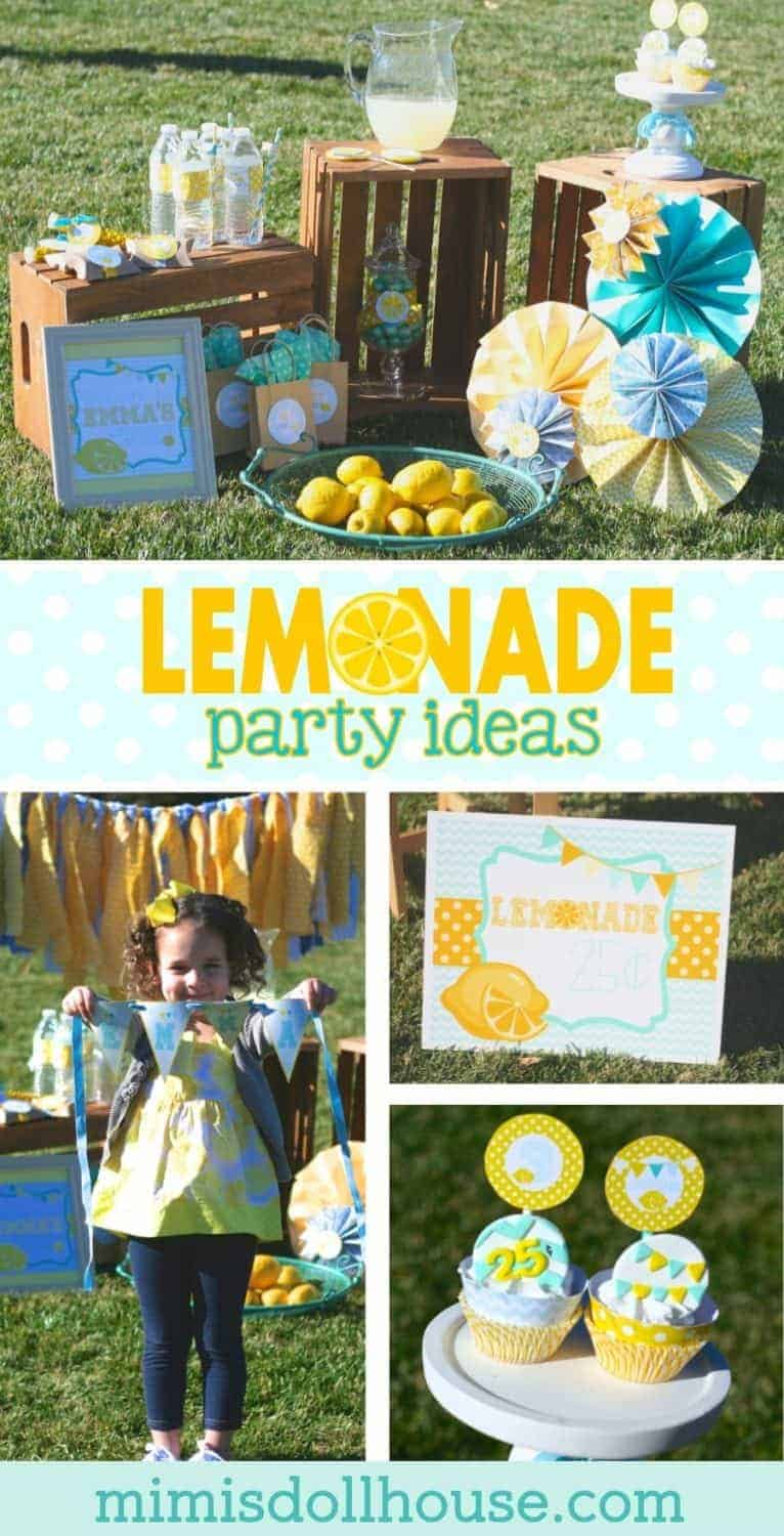 Lemonade Party: Emma's Old Fashioned Lemonade Stand.  Celebrate your little spring birthday baby with a sweet lemonade party.  Today I'm sharing a vintage lemonade stand I styled for my little girls.  Be sure to check out all our lemonade party ideas.
