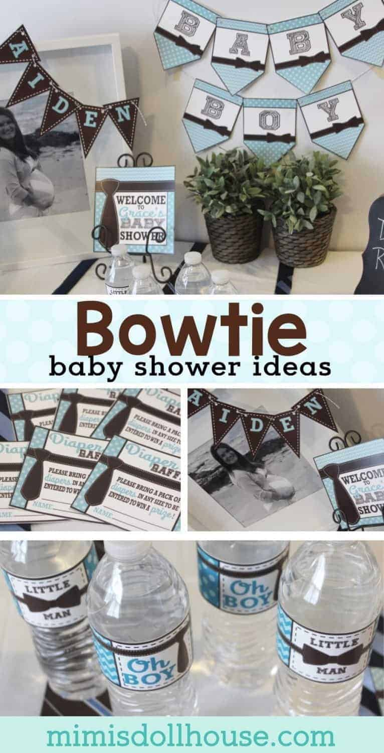 Baby Shower: Ties and Bowties, Oh My! Looking for a fun baby shower theme for a sweet little man? I'm sharing a sweet little baby boy shower today. Check out all of my boy baby shower items and inspiration.