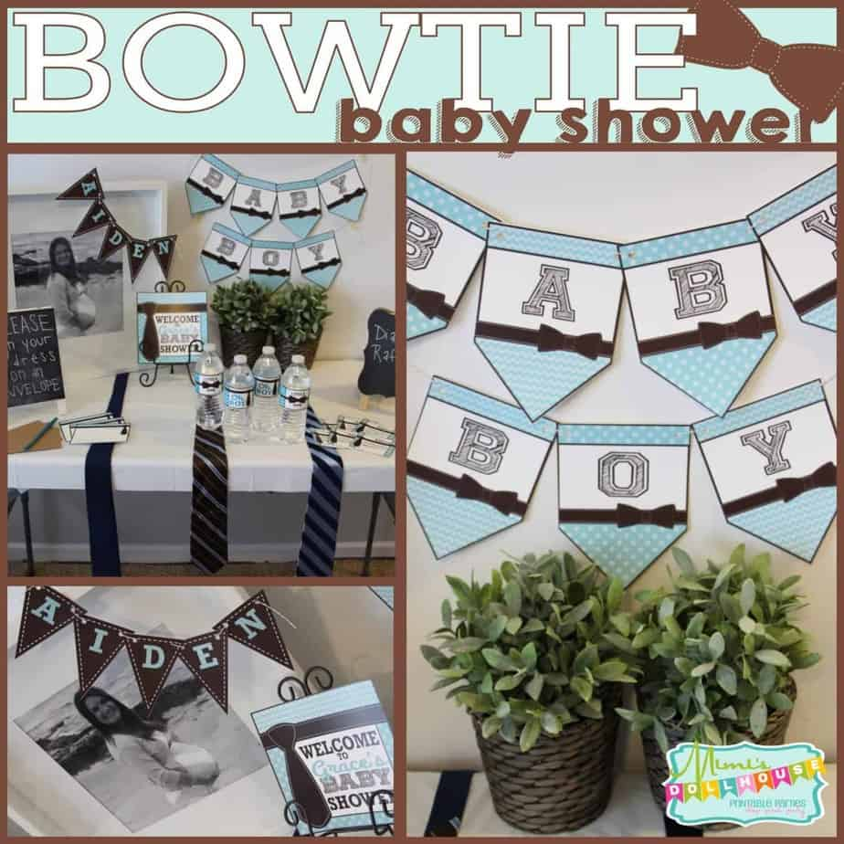 Baby Shower Ties And Bowties Oh My Mimis Dollhouse