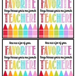Teacher Gift Tags-Favorite Things