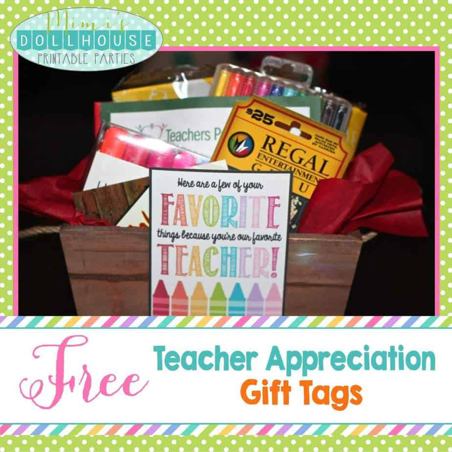 Teacher Appreciation Week: FREE Teacher Appreciation Gift Tags