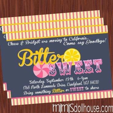 bittersweet invite display