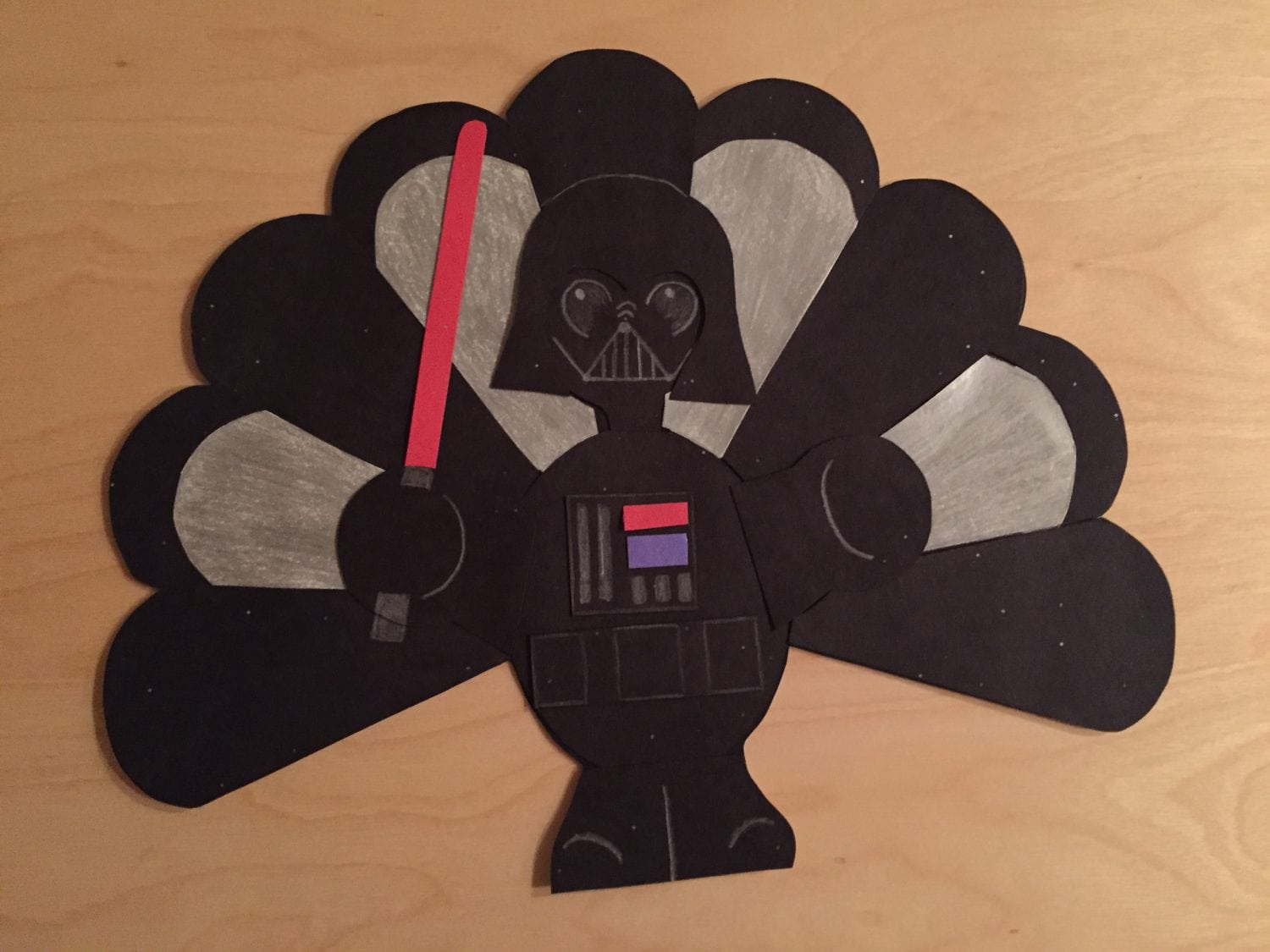 Darth Vader Turkey Coloring Costume Page