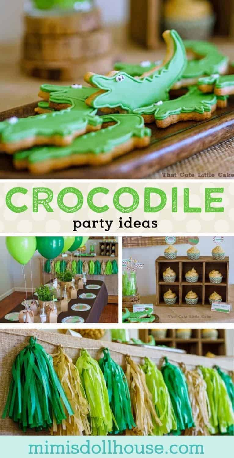 Crocodile Party: Tick Tock it's a party fit for a Croc! Today I'm sharing an ADORABLE Crocodile party styled by That Cute Little Cakeusing my Crocodile Printables. Be sure to check out all of our Crocodile party ideas and inspiration.