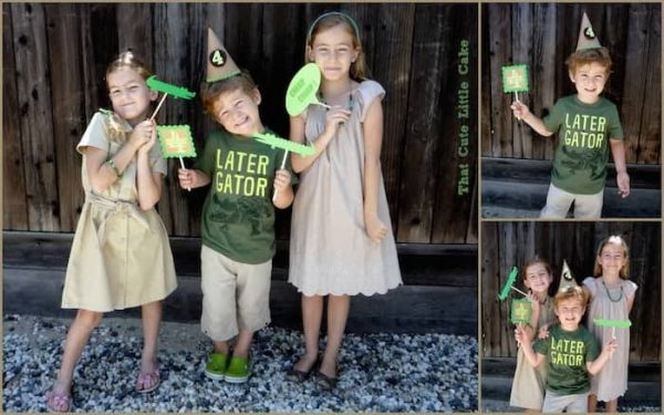 crocodile party photo booth