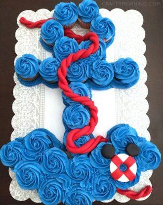 anchor cupcakes