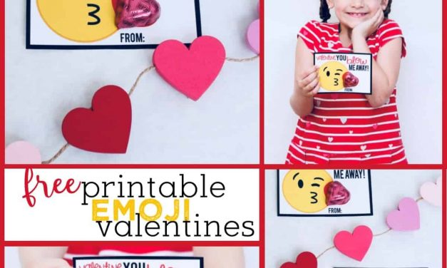 Emoji Valentines: Free Printable Valentine's Day Cards